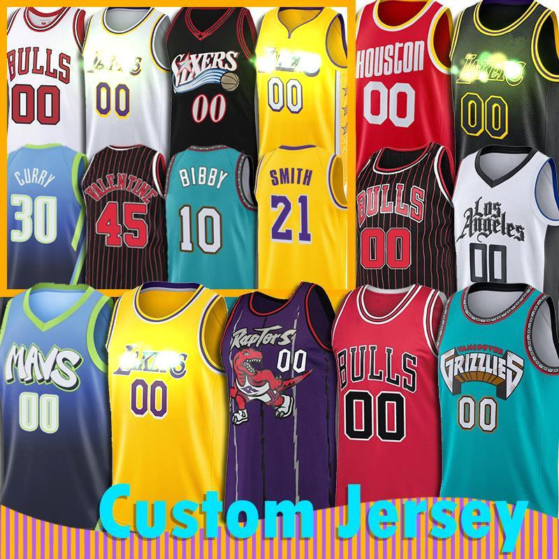 Özel Chicago Toronto Bulls JR Smith Jersey Raptors Dalla Memphis Grizzlies Mavericks, Los Angeles Philadelphia Houston Basketbol beni 76ers
