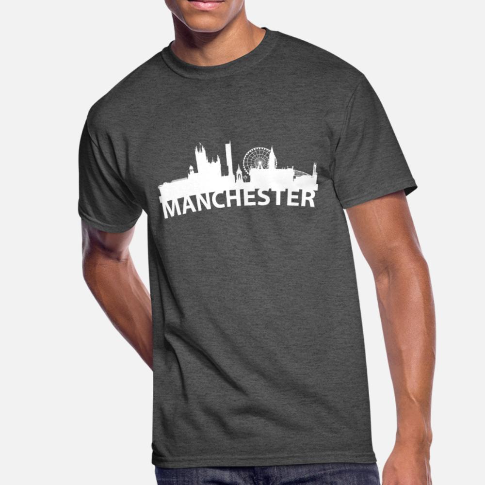 Arc Orizzonte Di Manchester England uomini della maglietta di stampa girocollo in cotone sottile La luce del sole camicia Umorismo estate fredda