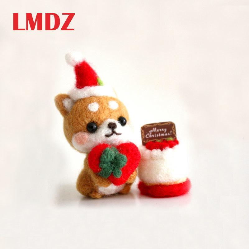 LMDZ 1pcs Pet Creative chien mignon Jouet Poupée en feutre de laine poked kitting Laine Handcarft non-fini feutrage matériel de paquet