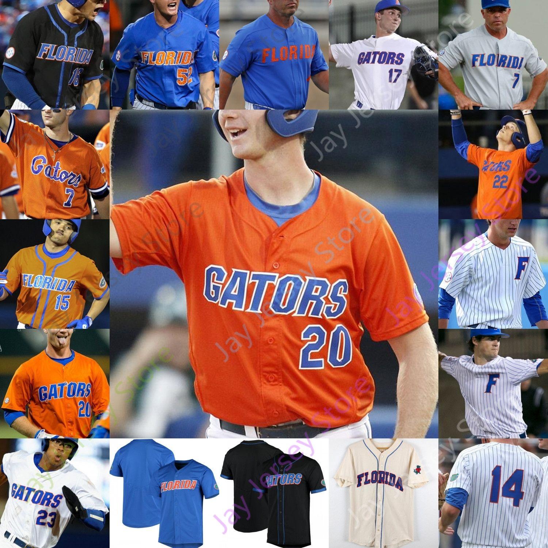 Özel florida gates beyzbol forması NCAA Koleji Pete Alonso Harrison Bader Jacob Young Butler Nathan Hickey Josh Rivera Christian Scott