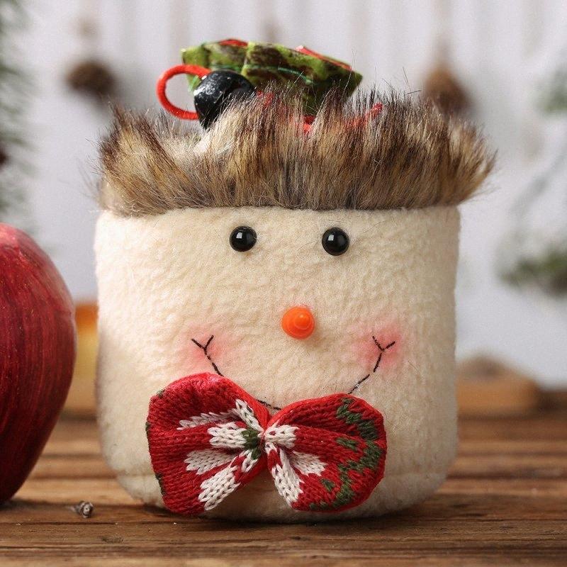 Hot Noël d'Apple Sacs avec clochette Bonbons Sacs à cordonnet cadeaux pour sapin de Noël fête de Noël Navidad Décorations Maison Decorat 6pPJ #