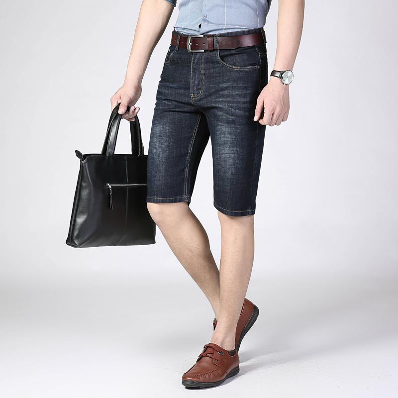 Jeans da uomo Jean Men Summer Shorts Stretch Breve moda Casual Casual Elastic Business Business Denim Brand