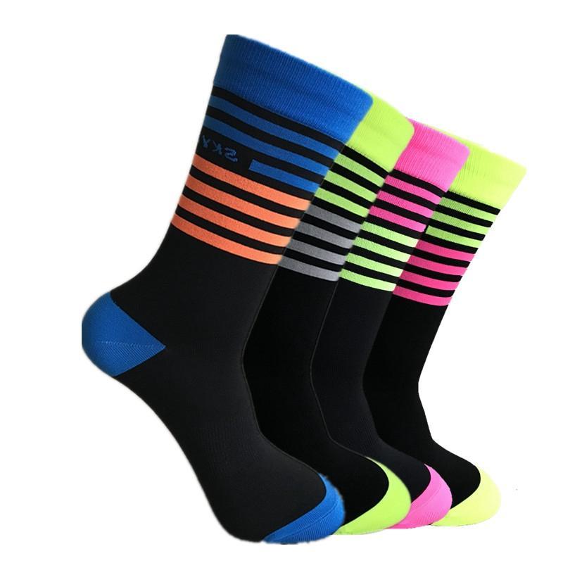 Qualitäts-Beruf Marke Sportsocken atmungsaktiv Deodorization Straßen-Fahrrad-Socken Outdoor Sport Racing Radfahren