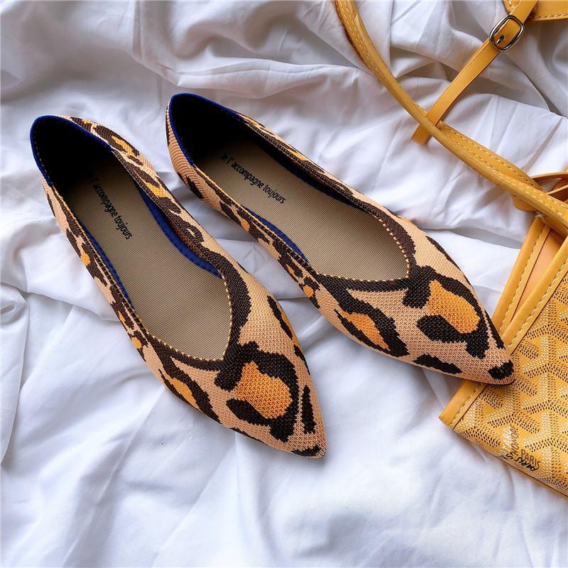 Остроконечные Toe квартиры женские плоские ботинки балета дышащий Knit Mocasines De Mujer Gestante Bailarinas De Mujer Мокасины осенью LJ200812