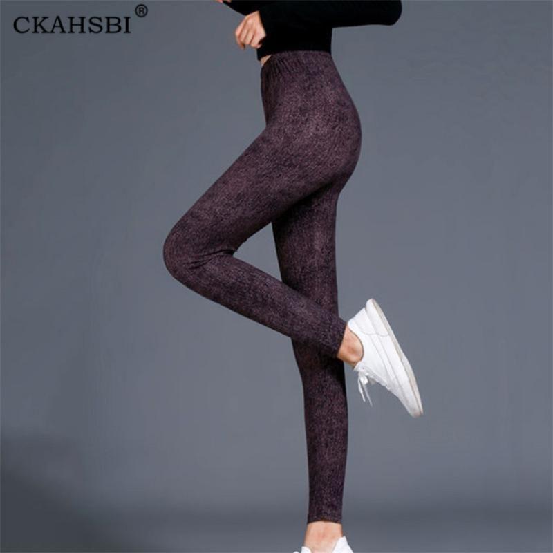 Yoga Pants CKAHSBI Sexy fitness Sports Leggings Jacquard Sports Leggings Feminino Correndo Calças de cintura alta Yoga calças apertadas
