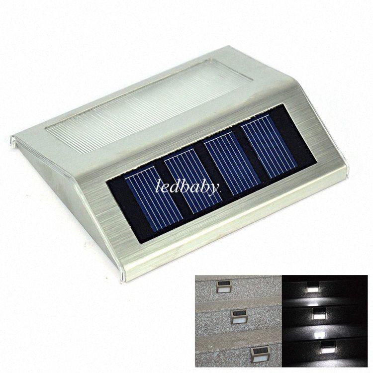 Solar Power 2 LEDs impermeável ao ar livre Caminho do jardim Escadas luz da lâmpada Energy Saving LED Solar parede Lâmpada Branco Quente Fria branco QfxF #