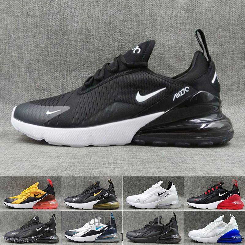 nike air max 270 270s 27c airmax casuale TN Cuscino Sneakers 2019 Sport Designer Casual Shoes Uomo sportivo Donne Scarpe da corsa Triple Bianco Rosso Università di oliva CY2W