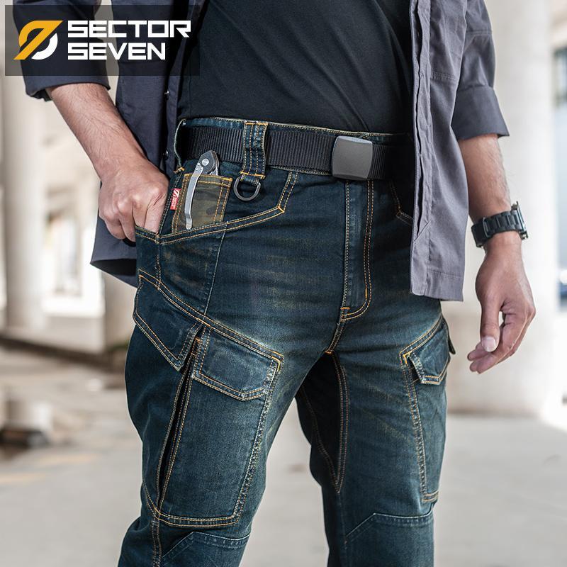 Secteur Sept 2020 New Slim Ville hommes Jeans Casual Mid taille droite Denim Jeans Classique Indigo Blue Jeans noir résistant à l'usure CX200820