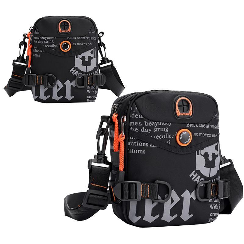 Mens Nylon Small Shoulder Bags High Quality Waterproof Messenger Bags Graffiti Letter Belt Bag Fashion Crossbody Fanny Bag Male