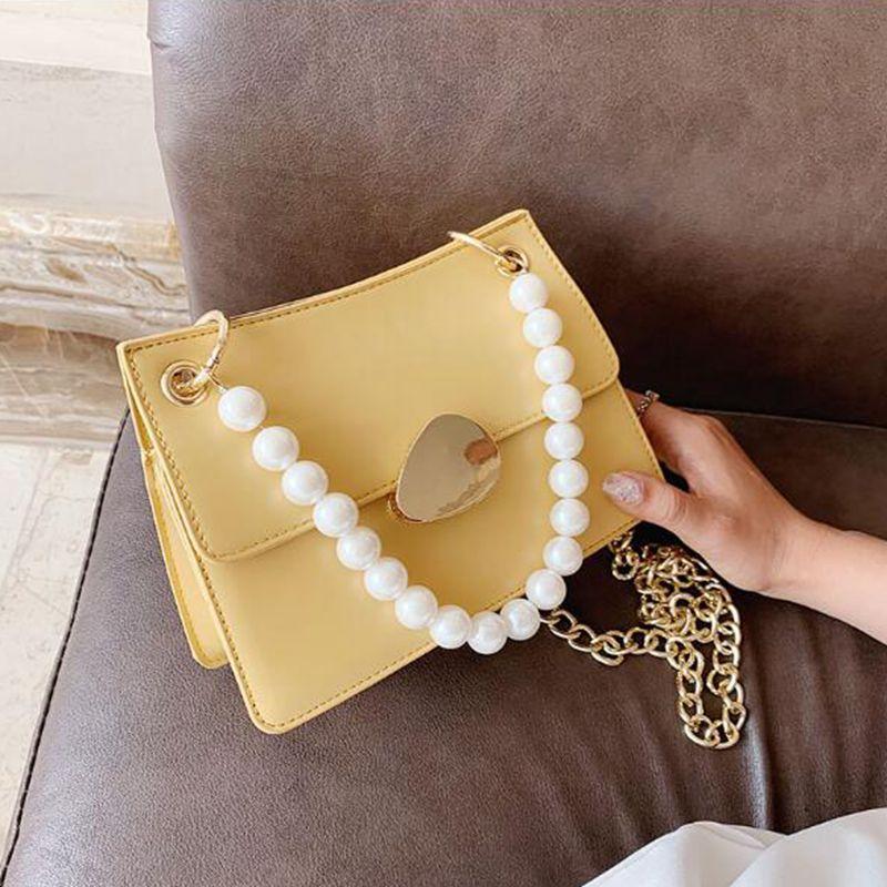 Solid Square BSUVC BSUVC Nuova borsa da donna 2020 Tote Designer Messenger Catena in pelle Borsa di alta qualità Borsa in PU Colore PU BllTJ