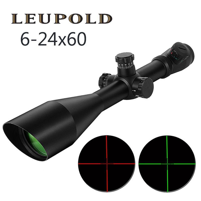 Leupold M1 6-24x60 AO тактическая открытая охотничья оптика обладает освещенным красным и зеленым цветом милдит
