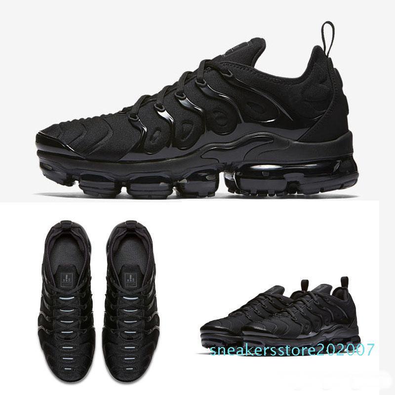 2019 nuevos zapatos casuales buena arco iris lleno tn Blanco Rojo Negro para hombre de las zapatillas de deporte Calzado tamaño 36-45 S07