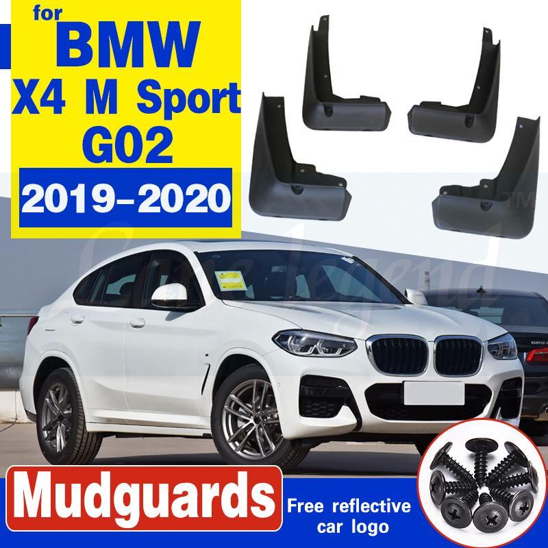 Nagelneue Qualitäts-4pcs Auto Radabdeckungen für BMW X4 G02 M Sport 2019 mudflaps Splash Guards Auto Fender Flares Original Schmutzfänger