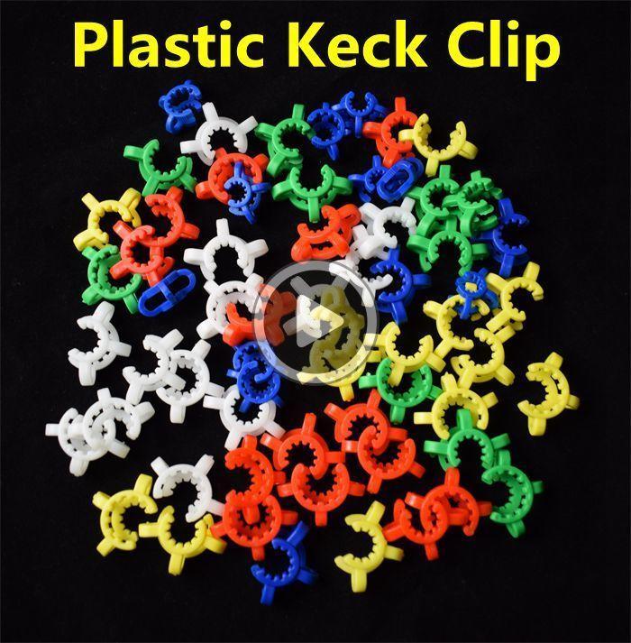 YENİ Pupular 10mm 14mm 19mm Plastik Keck Klip Laoratory La Kelepçe Glass'ın ong NC Aaron için Plastik Kilit Cam adaptörü Klip