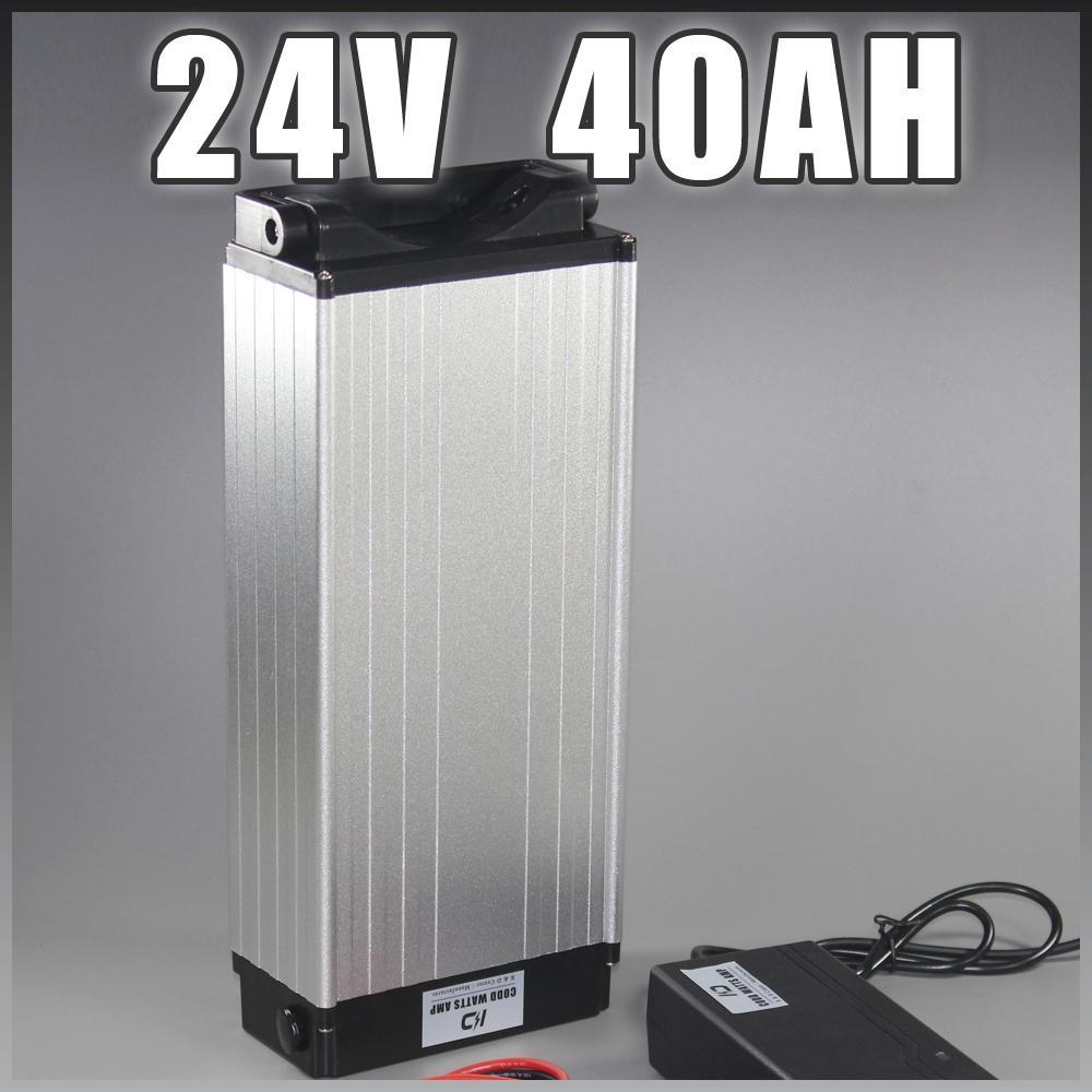 Ebike della batteria 24V 40AH posteriore cremagliera batteria agli ioni di litio 1000W Motore