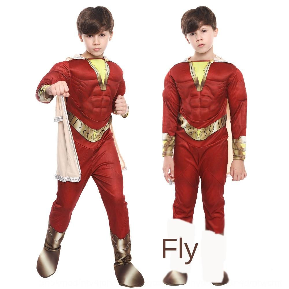 hqJwp Thunder Sha Zan movie children's Magic Children's jumpsuit Magic captain Billy Bartson battle clothing cosplay clothing
