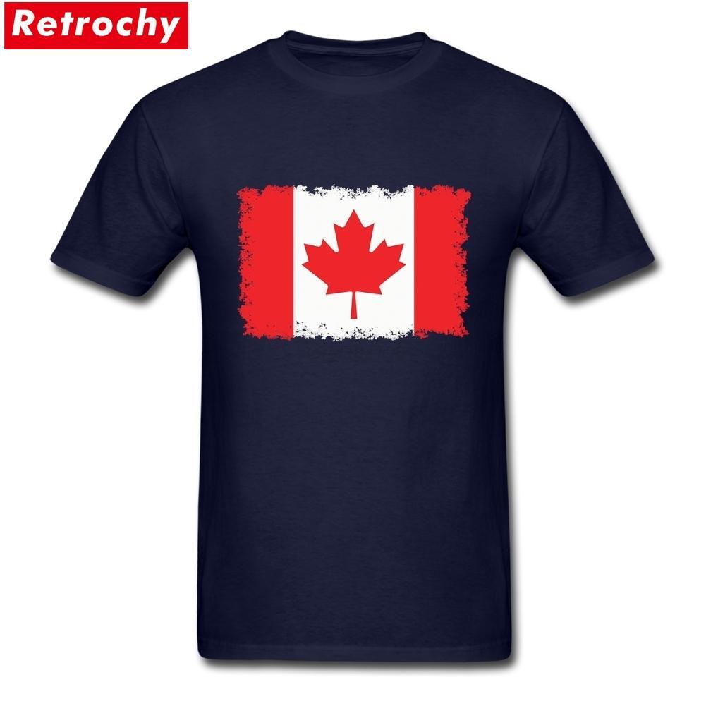 Tee Gömlek Özel Vintage Kanada Bayrak Takımı Üst tasarlanan Kısa Kollu Sevgililer Tişörtler XXXL
