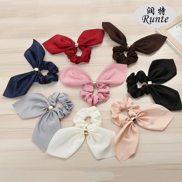 Meninas Rubber Band Tie Scrunchies Cabelo da orelha Cabelo Scrunchies elásticas Bandas de-cavalo Porta acessórios
