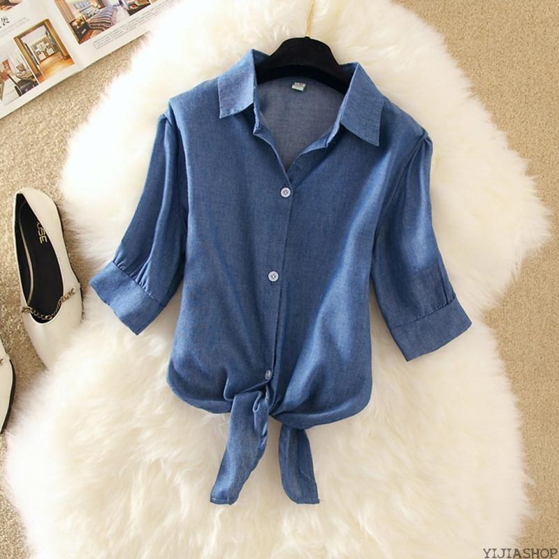 New Fashion blusa curta blusa empate frente top plus size nova primavera cor de rosa brancas senhoras amarelas azuis