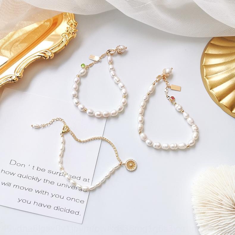 Bracelet artistique perle bijoux faits main irrégulière mode coréenne unique Bracelet Cercle bijoux personnalisés tout match pour les femmes G6dgb G6dg