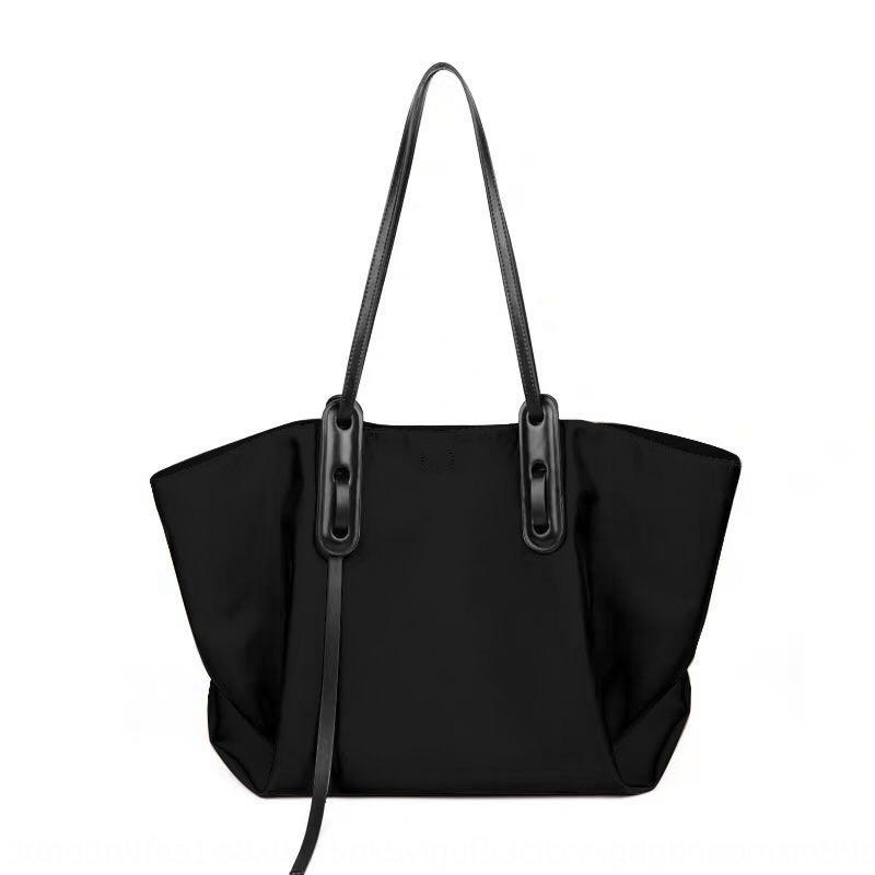 HYdzv Nuovo bagcapacity di spalla di modo delle donne a mano a mano di grandi dimensioni spalla di modo sacchetto di nylon semplice borsa di stoffa di Oxford tote gIDxI