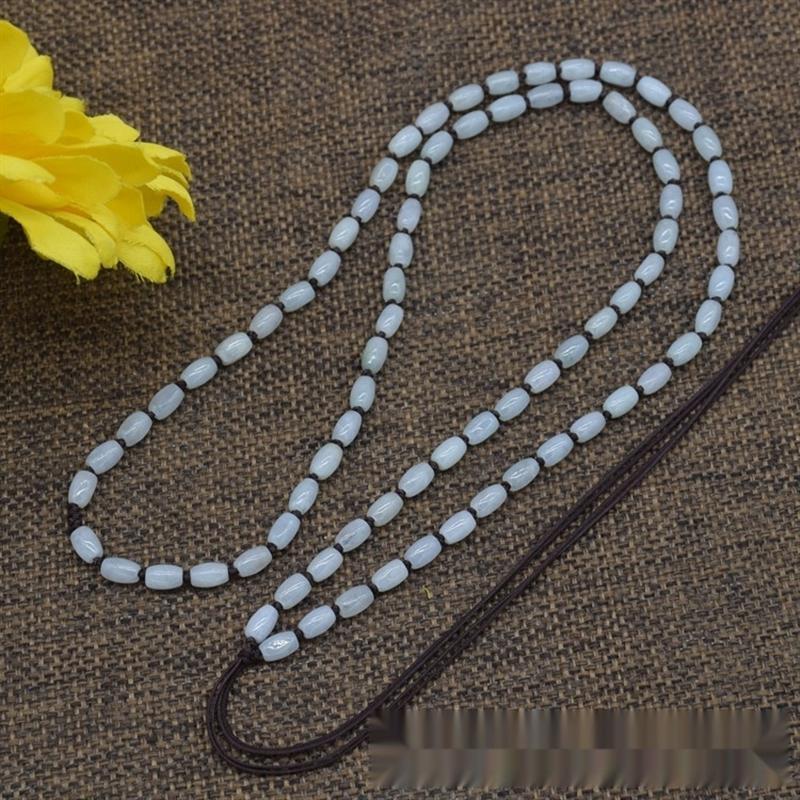 eFiBk bricolage tout le maïs Diy cornkinds de longe pendentif en jade perles de riz de jade cordon pendentif 6 * 4MM