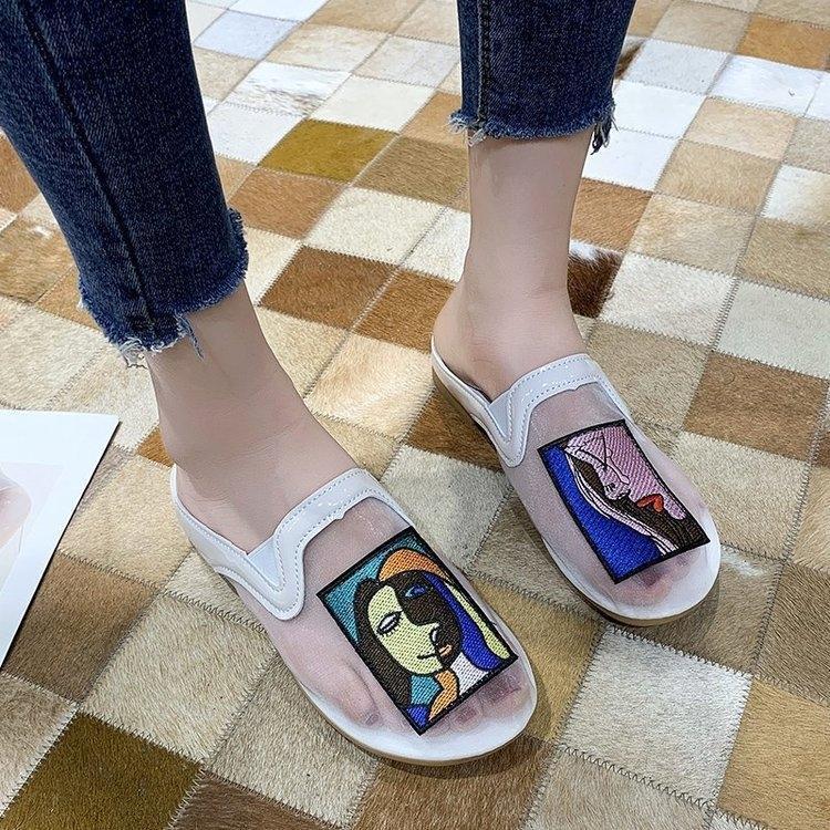 De malla transpirable para las mujeres 2020 nuevo verano zapatillas de malla zapatillas casuales cabeza bolsa de infrarrojos para la moda las mujeres ins
