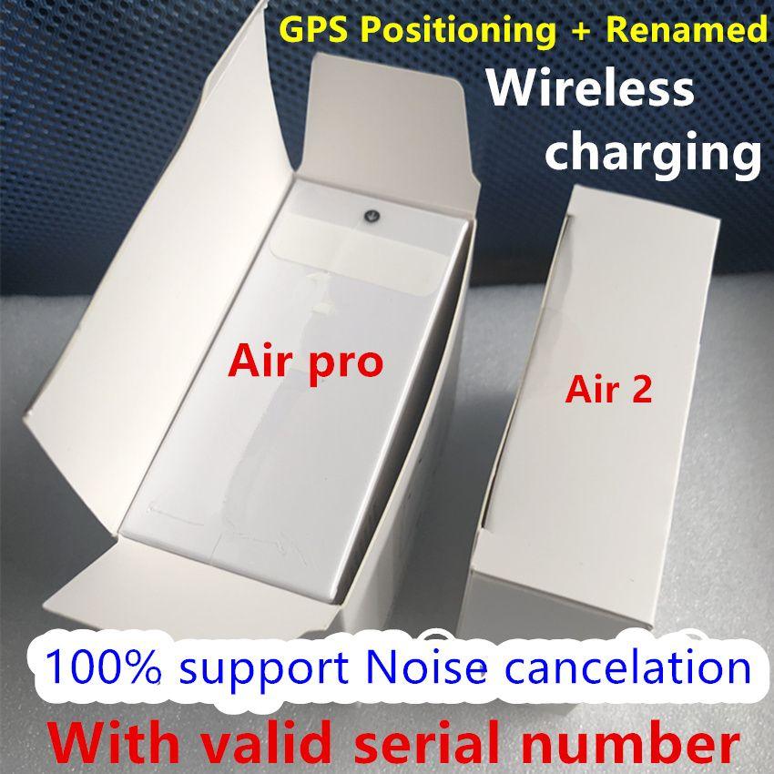 Para Air Gen 3 AP3 Geração 3 Cancelamento de Ruído Modo Transparência Fones de ouvido Carregamento sem fio Renomeado Fones de ouvido Bluetooth Feadphones
