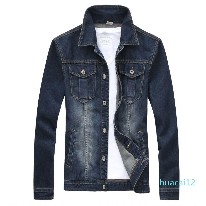 Hot Sale Man Denim Jacket Men Long Sleeve College Outwear Jeans Jacket And Coats Korean Style Asian Size M -5xl Slim Tops