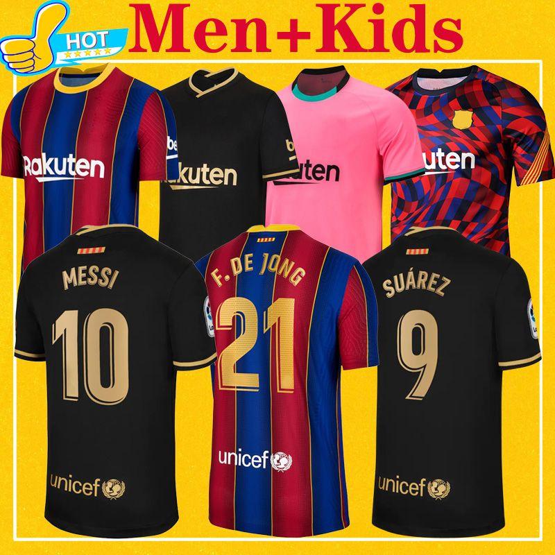 أعلى جودة تايلند 2021 لكرة القدم جيرسي الرئيسية بعيدا الثالثة 20 21 BAR الرجال الأطفال مجموعة قمصان كرة القدم