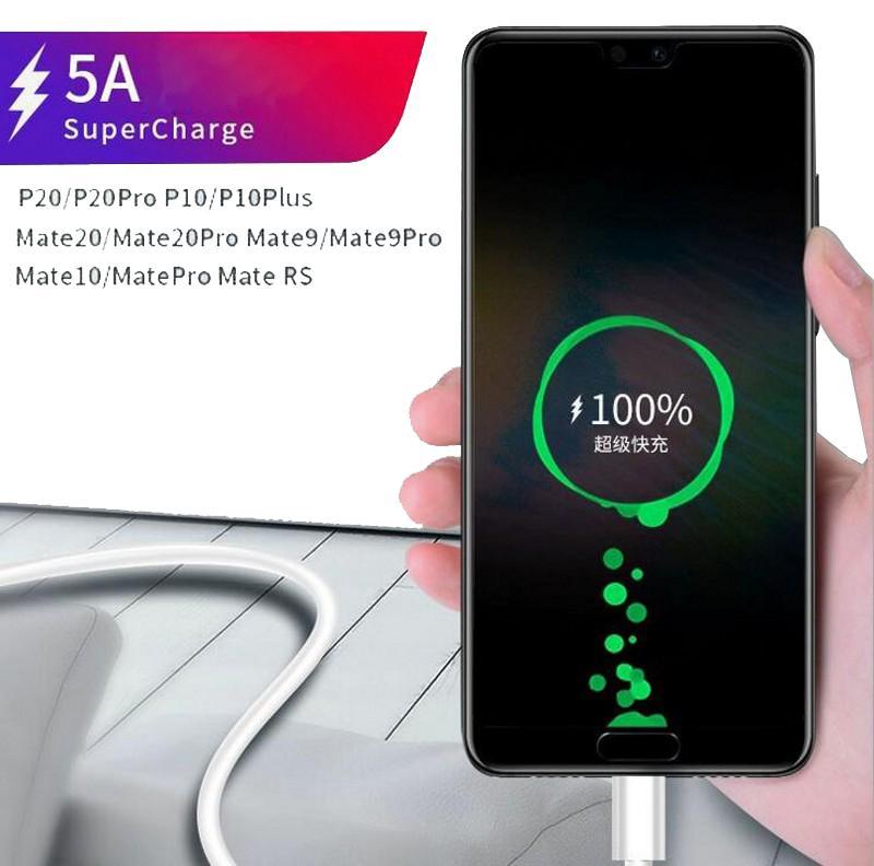 Hohe Qualität New 5A Typ C-Kabel USB-Super Fast Ladekabel Daten 0,5M 1M 1.5M 2M 3M Kabel für Huawei