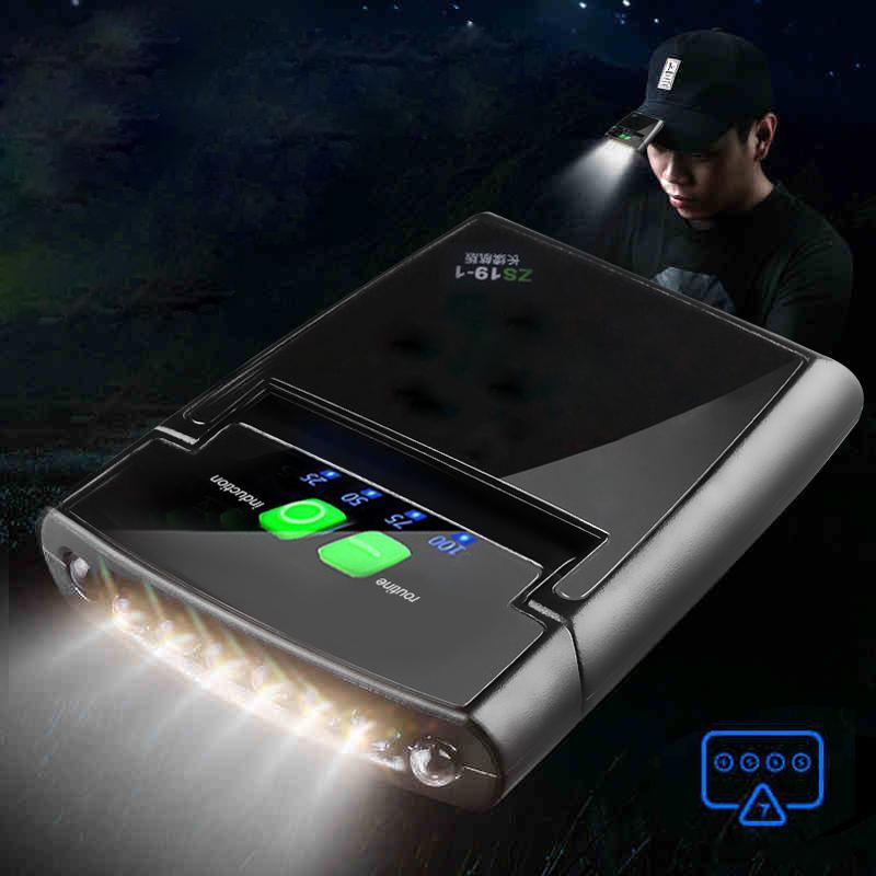 6 LED-Scheinwerfer Verstellbare USB aufladbare Sensor-Kappe Clip-Lampe wasserdicht IP64 Scheinwerfer-Fackel-Licht eingebaute Batterie