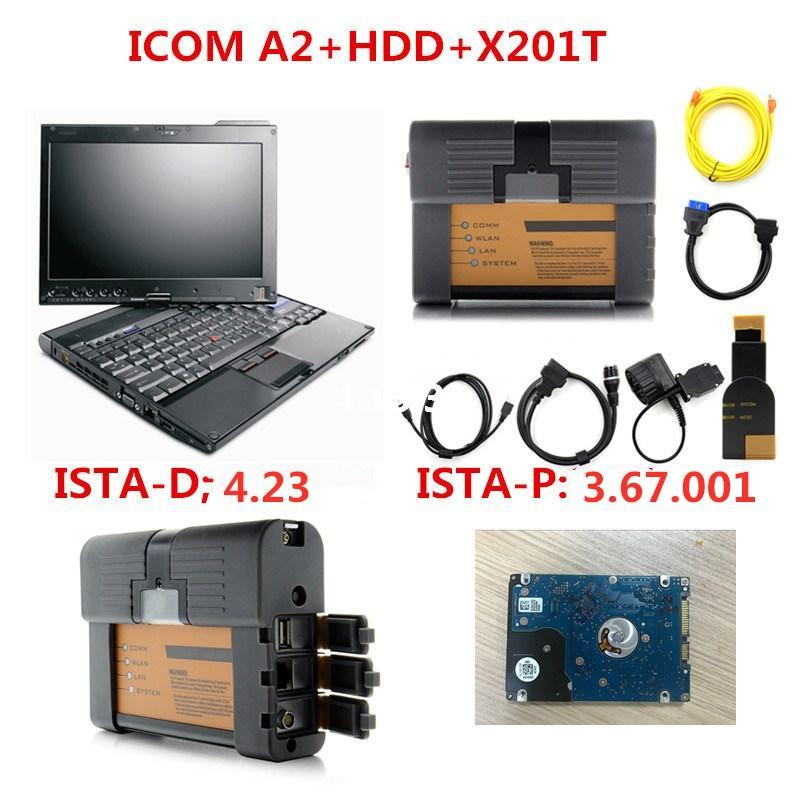 para BMW icom a2 b digitalizador c com laptop X201t hdd 500GB especialista em Windows 10 Modo 2.020,06 diagnostica para bmw pronto para trabalhar