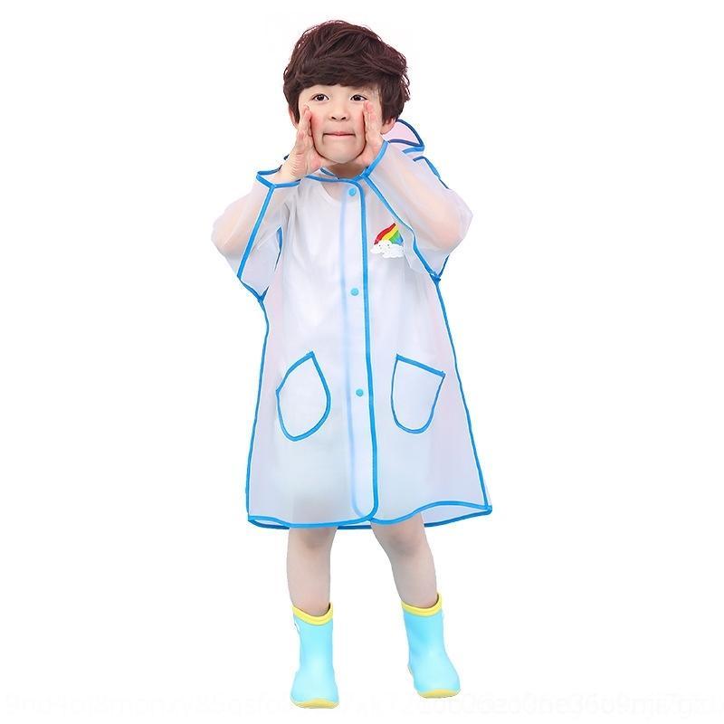 moda y los niños de WX8PZ dSBM3 niños chicos chicas de dibujos animados lindo bebé niños transparentes y estudiantes impermeable lluvia estudiante de kindergarten