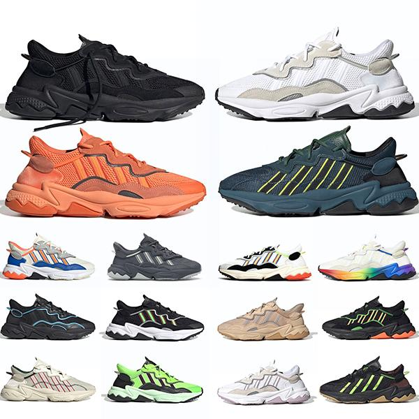 Adidas Ozweego Stolz 3M Reflective Xeno Ozweego für Mann-Frauen-beiläufige Schuh-Era-Pack Core-Schwarz Neon Grün-Töne Stolz Trainer Sport-Turnschuhe Größe 36-45