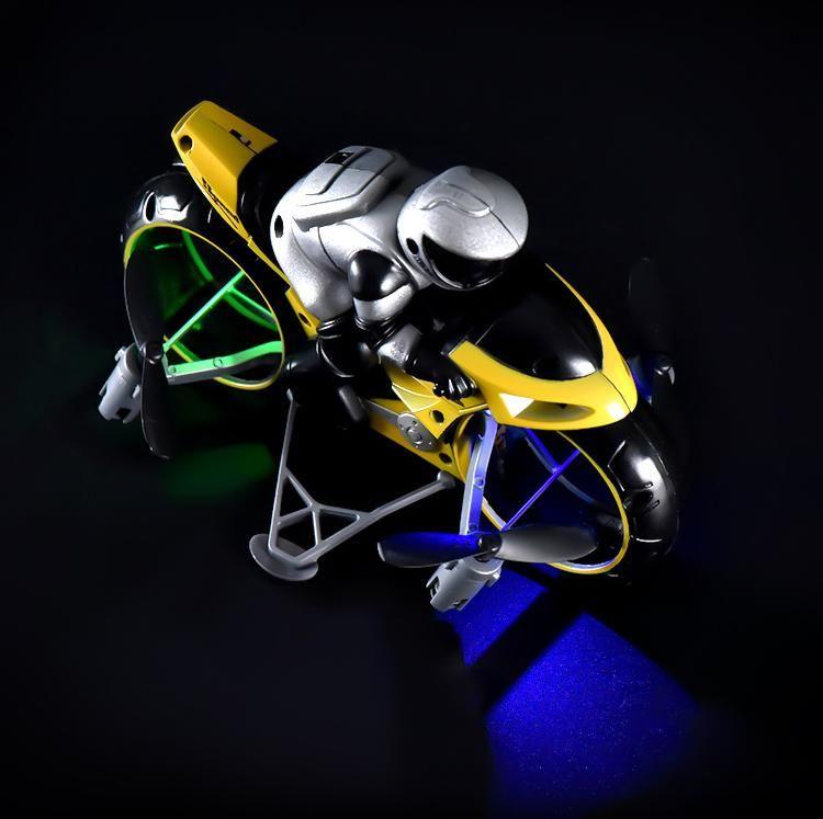 Control RC Light 2in1 Moto Mini Speed Moto Motorcycle Remote 2.4G Car High Motorbike Drift Air Air Bambini con modello Giocattolo volante 04 Xvelr