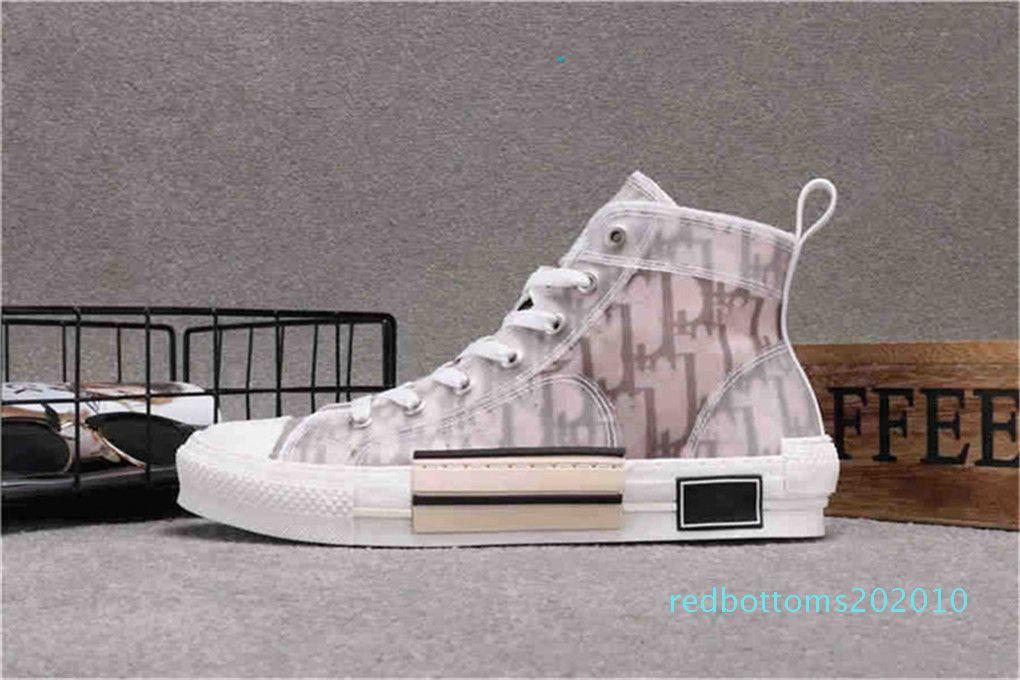s2020 B23 Eğik Yüksek Düşük En Sneakers oblikler Teknik Deri 19SS Çiçekler Teknik Açık Günlük Ayakkabılar Teknik Deri Luxury1 R10