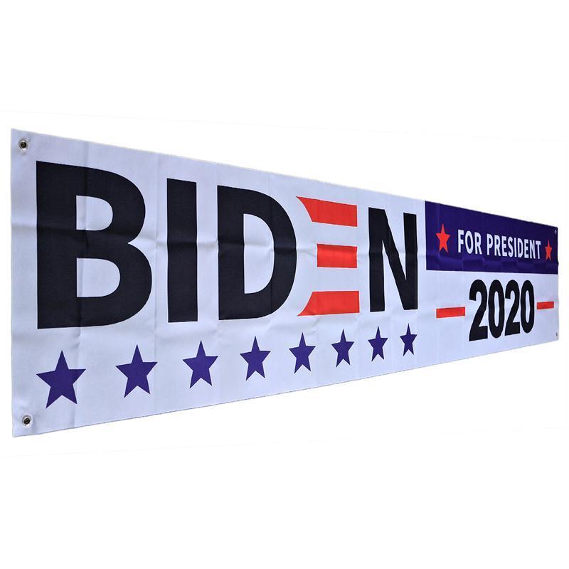 DHL Kargo 2020 Biden Bayraklar Banner Couplets Joe Biden Başkan Kampanyası Bayrağı Amerikan Büyük Bayrağı Ev Kapı Dekorasyon DHA1064 tutun