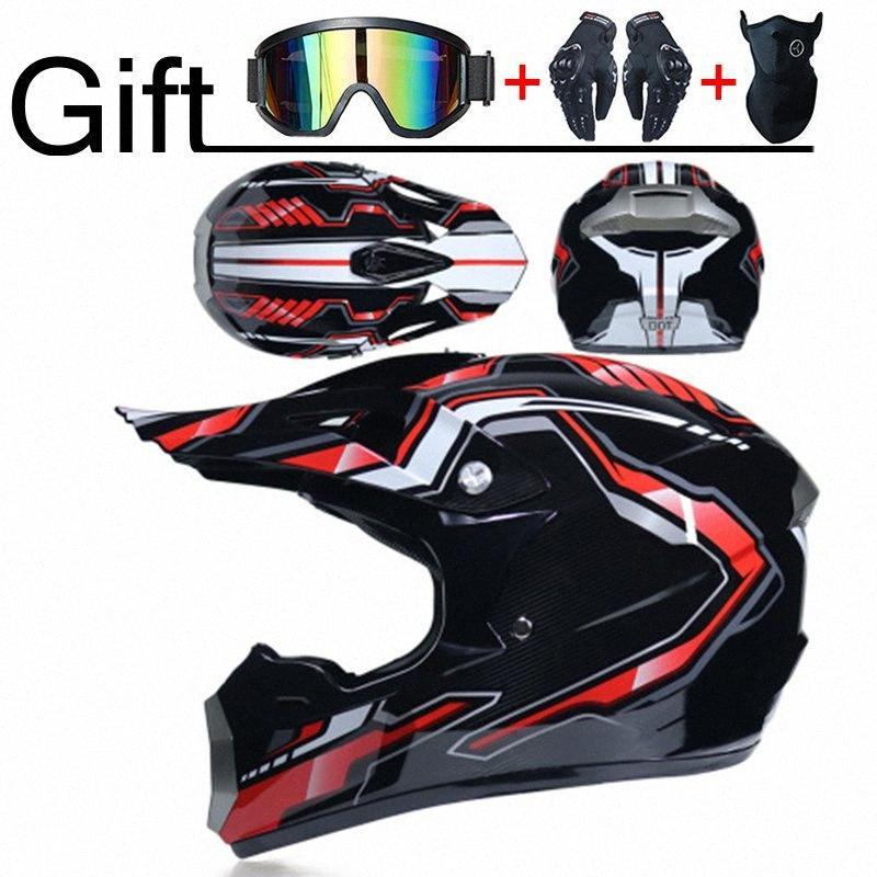 Профессиональный DOT мотоциклетный шлем Шлем Off Road Трассы Гонки Мотокросс Casque Moto 3 Free Gift Kid h7TE Подходит #