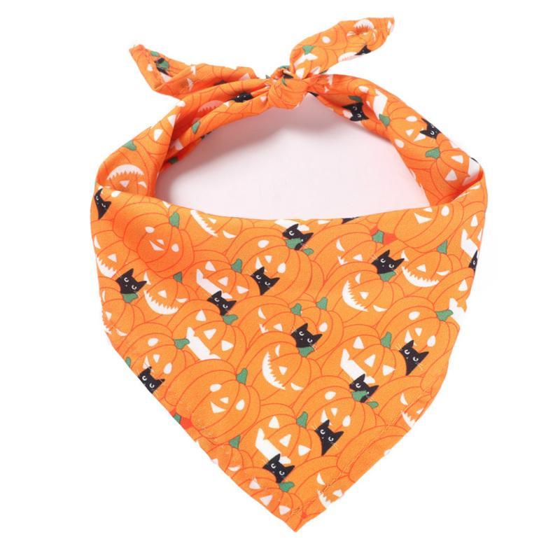 소 중 대 애완 동물 패션 디자인을위한 새로운 할로윈 개 두건 코튼 스카프 턱받이 미용 액세서리 붕대 칼라