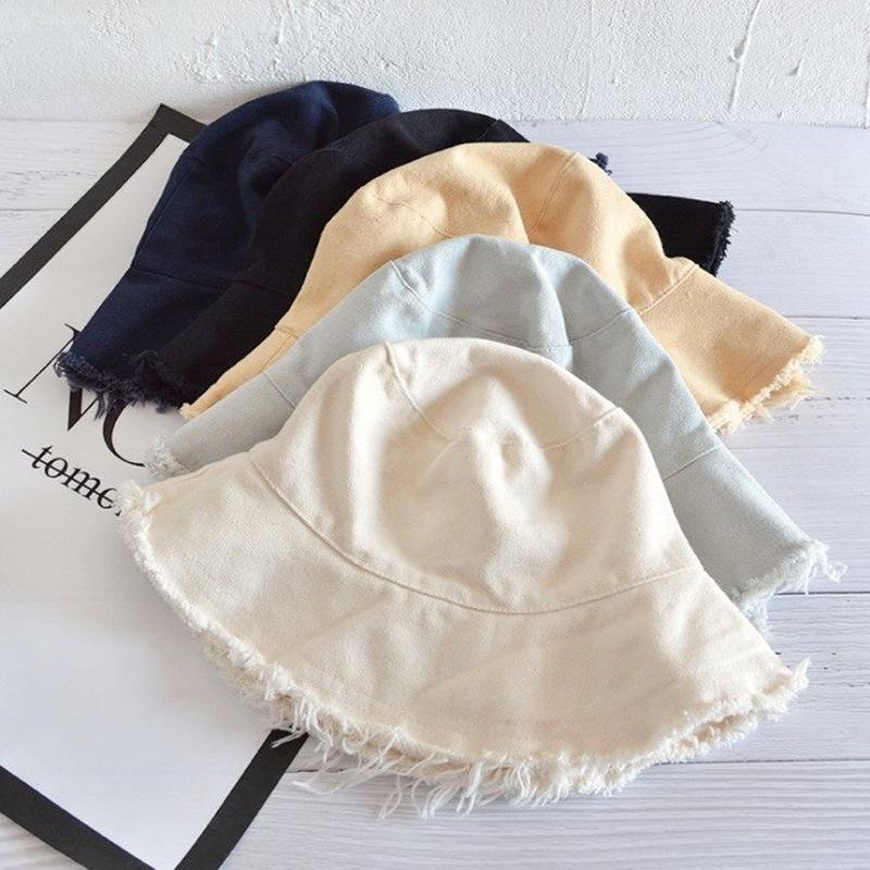 Été chapeau de pêcheur Femme capeline Décontracté artistique Jeunes étudiants Tout match Burr Mori Chapeau Fille Pliable