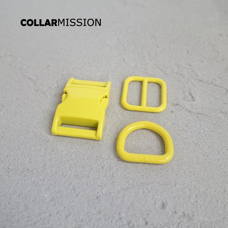 Розничная торговля (металлическая пряжка + регулировка пряжки + D кольцо / комплект) DIY ошейник желтого 20мм тесьма швейная аксессуар спрей краска пряжка набора