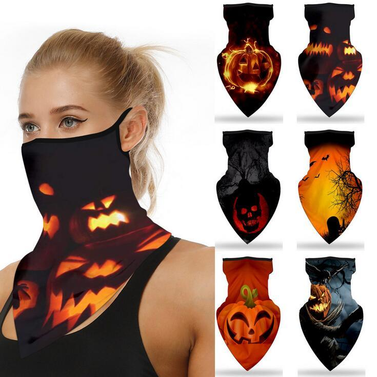 Hiking Bike Breathable Head Wrap Mask Ski Balaclava Magic Headscarf Face Shield Beanie Cap Windproof Sport Cycling Mask Halloween Supplies