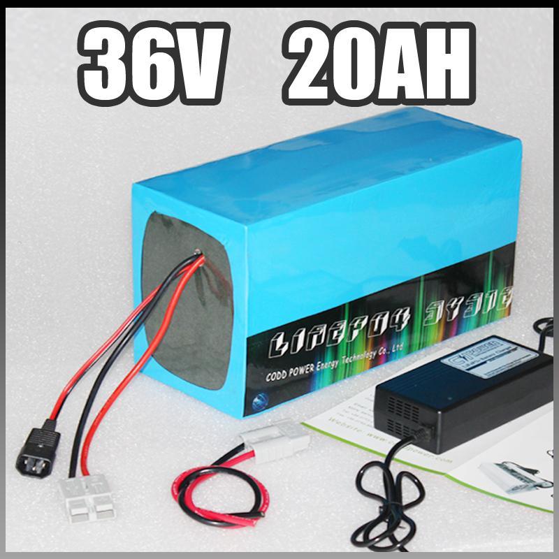 36v 20Ah batteria elettrica della bici bicicletta elettrica al litio della batteria con BMS caricatore ebike pacco Li-ion fai da te