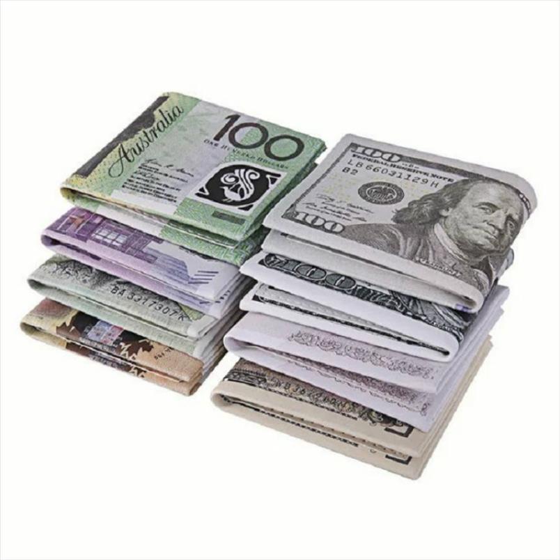 2019 Regalo de cuero Mujeres pliegue nuevo dólar delgado euro hombres cortos papel monedero mini 2 PU Estudiante barato cremallera billetera Monedero Bolsa LNGSH