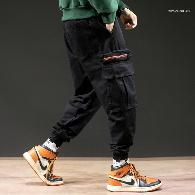 Lettera ricamo Mens caviglia bagagli pantaloni da uomo progettista dei pantaloni Pantaloni Casual grande pacchetto Cargo