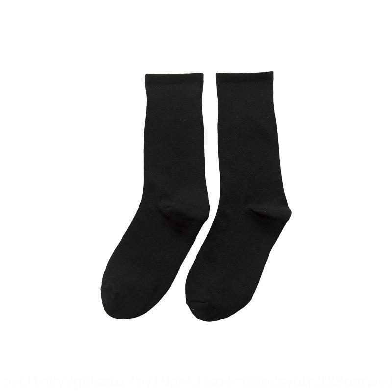 tubo central de apilamiento de las mujeres de algodón de color sólido clásico del otoño y del invierno de las nuevas mujeres de los calcetines de las mujeres y calcetines 0ga45
