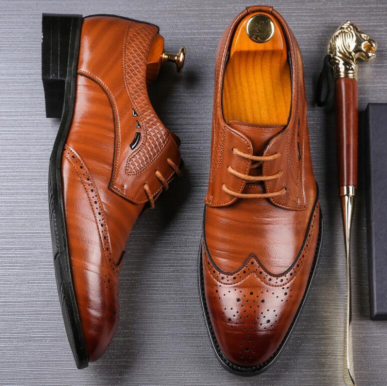 Robe chaussures plates en cuir véritable Oxford Hommes marche Flats de soirée de mariage Bureau Mocassins 38-48 Plus Size