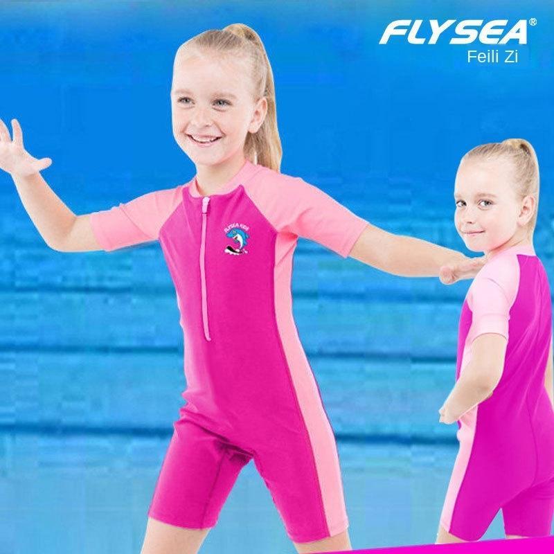 Enfants de chaud maillot de bain une pièce de support de formation professionnelle et de grands maillots de bain pour enfants garçons des filles maillot de bain chaud maillots de bain de soleil à l'épreuve