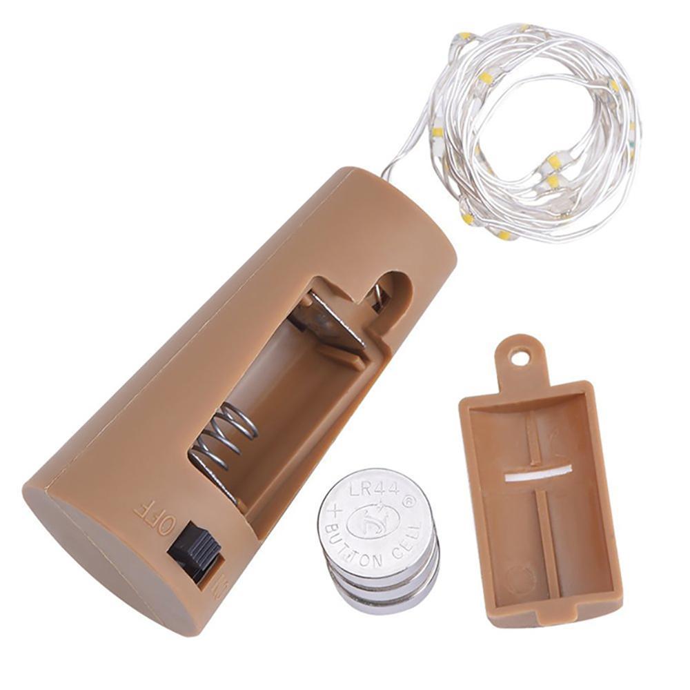2m 20 LED Mini Bottle Stopper Lamp String Bar Decoration String Light Colorful Light Earth Color Full